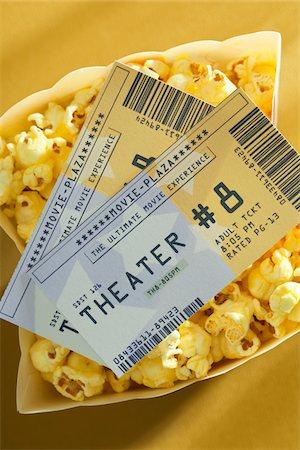 pair - Movie Tickets and Popcorn Stock Photo - Premium Royalty-Free, Code: 600-05803386