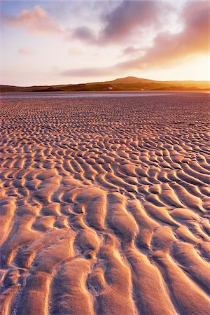 Sand Ripples on Beach at Dawn, Isle of Lewis, Outer Hebrides, Scotland Stock Photo - Premium Royalty-Free, Code: 600-05803603