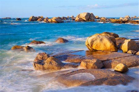 Rocky Coastline, Brignogan-Plage, Finistere, Brittany, France Stock Photo - Premium Royalty-Free, Code: 600-05803663