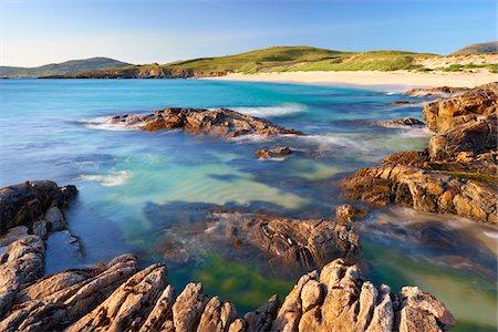 Rugged Coastline along Sound of Taransay, Isle of Harris, Outer Hebrides, Scotland Stock Photo - Premium Royalty-Free, Code: 600-05803684