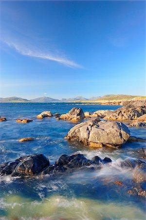 Rugged Coastline along Sound of Taransay, Isle of Harris, Outer Hebrides, Scotland Stock Photo - Premium Royalty-Free, Code: 600-05803682