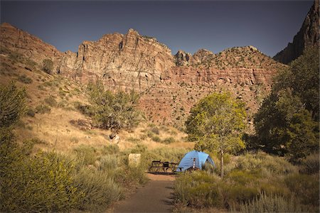 Campsite, Zion National Park, Utah, USA Stock Photo - Premium Royalty-Free, Code: 600-05822077