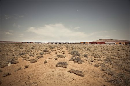Freight Train, New Mexico, USA Stock Photo - Premium Royalty-Free, Code: 600-05822089