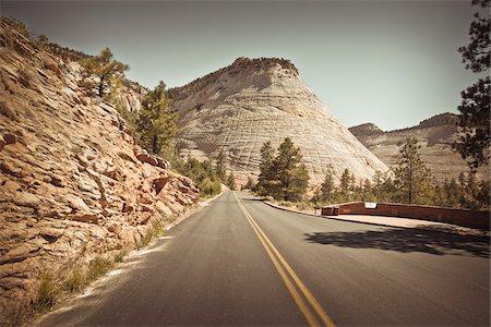 rugged landscape - Checkerboard Mesa, Zion National Park, Utah, USA Stock Photo - Premium Royalty-Free, Code: 600-05822101