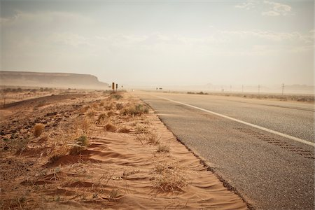 Highway 160 near Mexican Water, Arizona, USA Stock Photo - Premium Royalty-Free, Code: 600-05837337