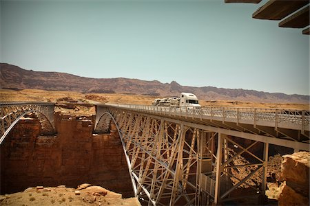 Navajo Bridge crossing over the Colorado River's Marble Canyon near Lee's Ferry, Arizona, USA Stock Photo - Premium Royalty-Free, Code: 600-05837330