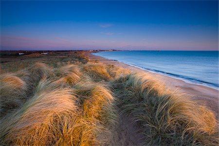 Blyth Beach and Sand Dunes, Blyth, Northumberland, England Stock Photo - Premium Royalty-Free, Code: 600-05837360