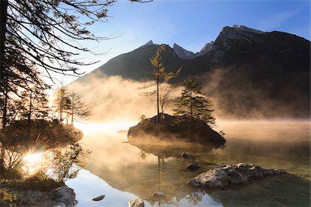 Lake Hintersee, Bavaria, Germany Stock Photo - Premium Royalty-Free, Code: 600-05837546