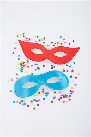 Masks and Confetti Stock Photo - Premium Royalty-Free, Code: 600-05854176