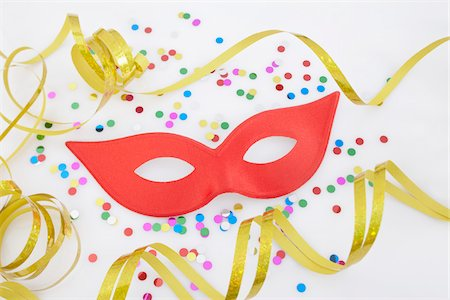 Mask and Confetti Stock Photo - Premium Royalty-Free, Code: 600-05854177