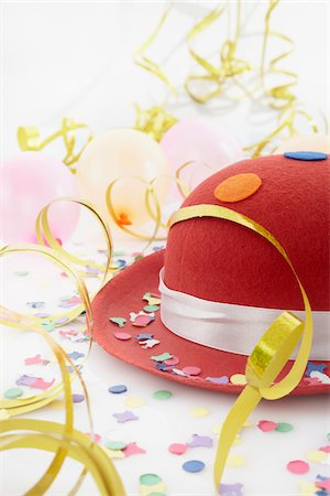 Hat and Streamers Stock Photo - Premium Royalty-Free, Code: 600-05854178