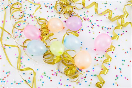 Balloons and Streamers Stock Photo - Premium Royalty-Free, Code: 600-05854211