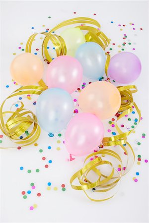 Balloons and Streamers Stock Photo - Premium Royalty-Free, Code: 600-05854212