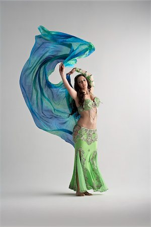 Woman Belly Dancing Stock Photo - Premium Royalty-Free, Code: 600-05855330