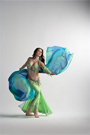 Woman Belly Dancing Stock Photo - Premium Royalty-Free, Code: 600-05855332