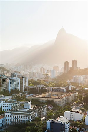 View of Botofogo with Corcovado Mountain in Background, Rio de Janeiro, Brazil Stock Photo - Premium Royalty-Free, Code: 600-05947904