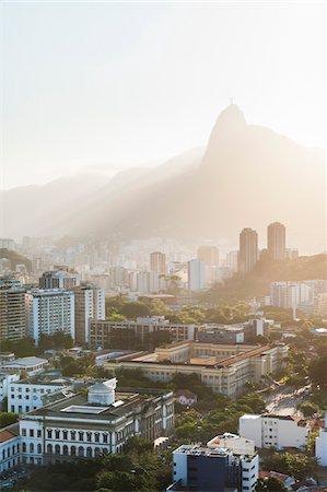 View of Botofogo with Corcovado Mountain in Background, Rio de Janeiro, Brazil Stock Photo - Premium Royalty-Free, Code: 600-05947904