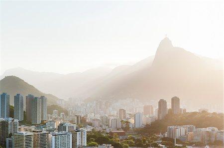 View of Botofogo with Corcovado Mountain in Background, Rio de Janeiro, Brazil Stock Photo - Premium Royalty-Free, Code: 600-05947905