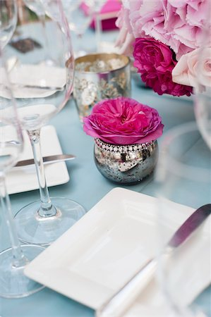 decorations - Table at Wedding Reception, Toronto, Ontario, Canada Stock Photo - Premium Royalty-Free, Code: 600-05948271