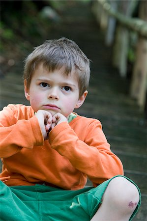 Portrait of Boy on Steps Stock Photo - Premium Royalty-Free, Code: 600-05969983