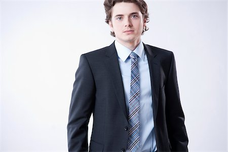 Portrait of Young Businessman Stock Photo - Premium Royalty-Free, Code: 600-05973095