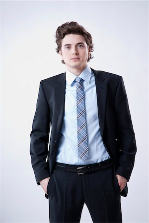Portrait of Young Businessman Stock Photo - Premium Royalty-Free, Code: 600-05973090
