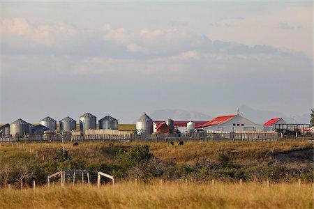 Farm Buildings, Mountains in Distance, Utopia Farm, Pincher Creek, Alberta, Canada Stock Photo - Premium Royalty-Free, Code: 600-05973399