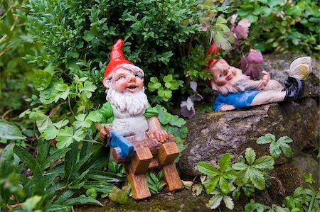 dwarf - Garden Gnomes, Freiburg, Baden-Wurttemberg, Germany Stock Photo - Premium Royalty-Free, Code: 600-05973544