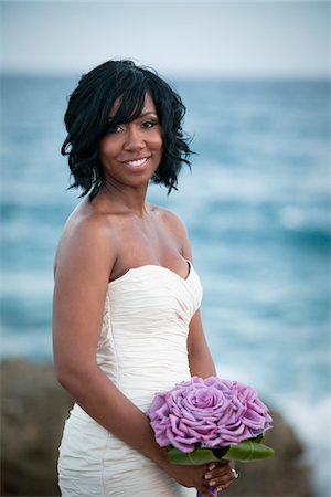 Bride, Negril, Jamaica Stock Photo - Premium Royalty-Free, Code: 600-05973580