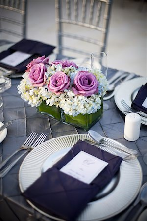 event - Wedding Place Setting, Negril, Jamaica Stock Photo - Premium Royalty-Free, Code: 600-05973595
