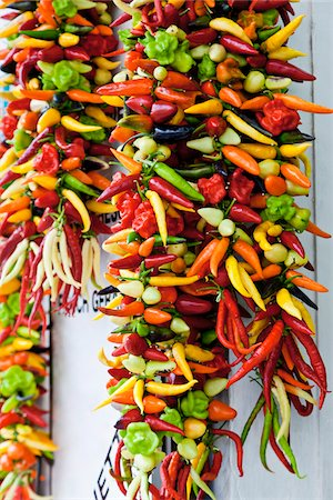 Mixture of Chili Peppers Stock Photo - Premium Royalty-Free, Code: 600-05973812