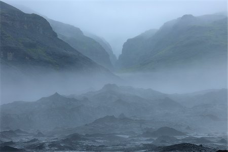 Valley, Volcanic Landscape, Eyjafjallajokull, South Iceland, Iceland Stock Photo - Premium Royalty-Free, Code: 600-06009081