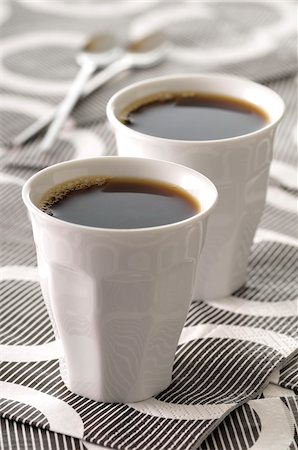 Two Cups of Coffee Stock Photo - Premium Royalty-Free, Code: 600-06025206