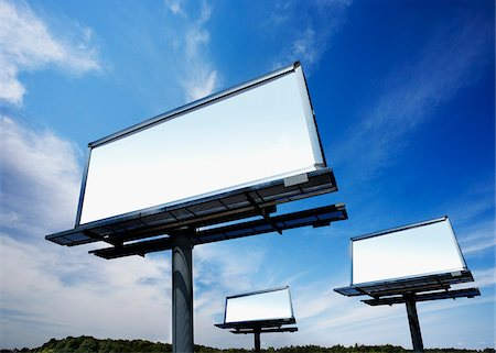 Empty Billboards Stock Photo - Premium Royalty-Free, Code: 600-06025301