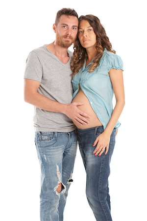 expectation - Portrait of Pregnant Couple Stock Photo - Premium Royalty-Free, Code: 600-06038104