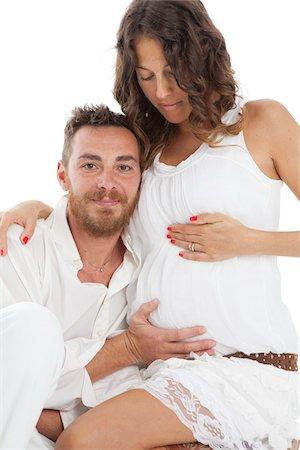 expectation - Pregnant Couple Stock Photo - Premium Royalty-Free, Code: 600-06038101