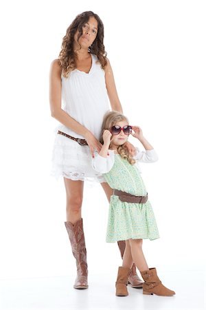 family shoes - Portrait of Mother and Daughter Stock Photo - Premium Royalty-Free, Code: 600-06038103