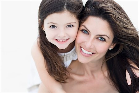 Portrait of Mother and Daughter at Beach, Florida, USA Stock Photo - Premium Royalty-Free, Code: 600-06038148