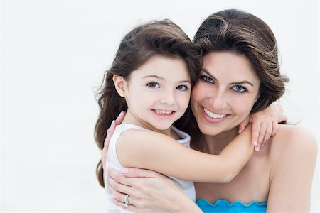 Portrait of Mother and Daughter at Beach, Florida, USA Stock Photo - Premium Royalty-Free, Code: 600-06038149