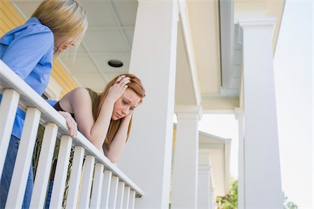Mother and Daughter on Porch, Florida, USA Stock Photo - Premium Royalty-Free, Code: 600-06038174