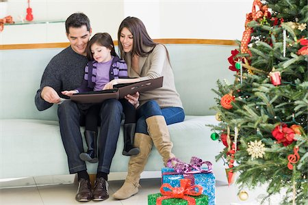family shoes - Family at Christmas, Florida, USA Stock Photo - Premium Royalty-Free, Code: 600-06038175