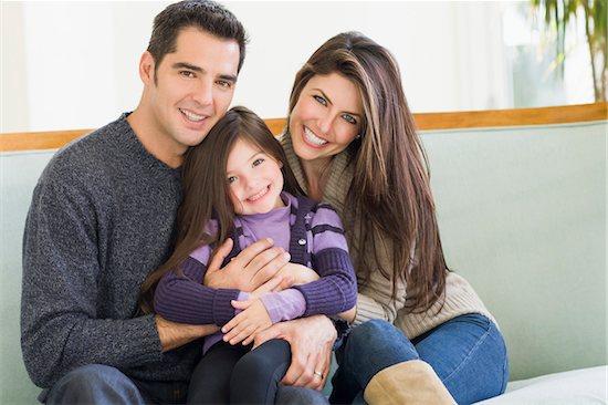 Family at Christmas, Florida, USA Stock Photo - Premium Royalty-Free, Artist: Kevin Dodge, Image code: 600-06038176