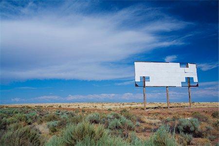 Blank Billboard along Interstate 40, Arizona, USA Stock Photo - Premium Royalty-Free, Code: 600-06125575