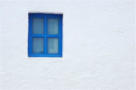 Blue Window of Church, Oia, Santorini Island, Cyclades Islands, Greek Islands, Greece Stock Photo - Premium Royalty-Free, Code: 600-06125805
