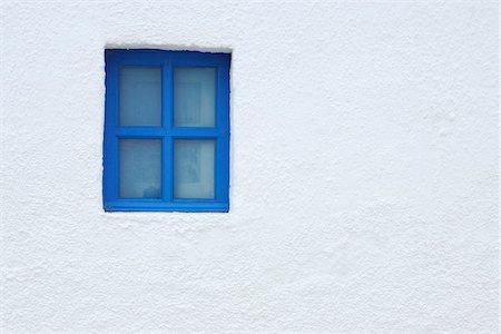 Blue Window of Church, Oia, Santorini Island, Cyclades Islands, Greek Islands, Greece Stock Photo - Premium Royalty-Free, Code: 600-06125805