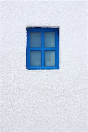 Blue Window of Church, Oia, Santorini Island, Cyclades Islands, Greek Islands, Greece Stock Photo - Premium Royalty-Free, Code: 600-06125806