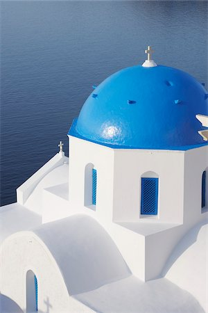 Church, Oia, Santorini Island, Cyclades Islands, Greek Islands, Greece Stock Photo - Premium Royalty-Free, Code: 600-06125802