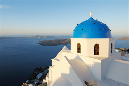 Church, Imerovigli, Santorini Island, Cyclades Islands, Greek Islands, Greece Stock Photo - Premium Royalty-Free, Code: 600-06125814