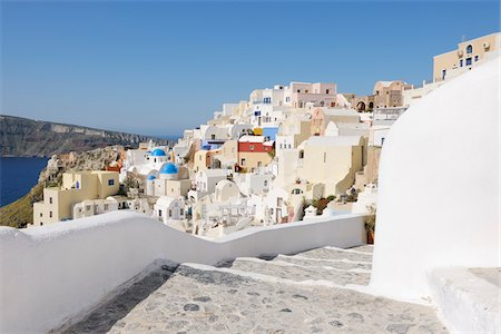 Oia, Santorini Island, Cyclades Islands, Greek Islands, Greece Stock Photo - Premium Royalty-Free, Code: 600-06125818