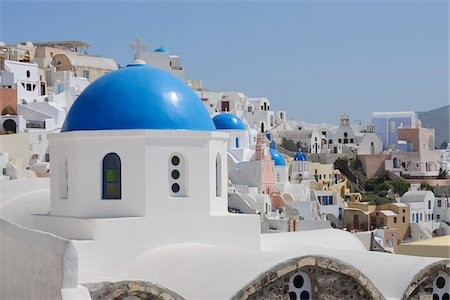 Church, Oia, Santorini Island, Cyclades Islands, Greek Islands, Greece Stock Photo - Premium Royalty-Free, Code: 600-06125819